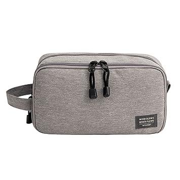 1d0c957d66fa Amazon.com   GOHIGH Travel Toiletry Organizer Bag for Men Women Canvas  Cosmetic Makeup Bag Shaving Dopp Kit with Double Zipper Compartments