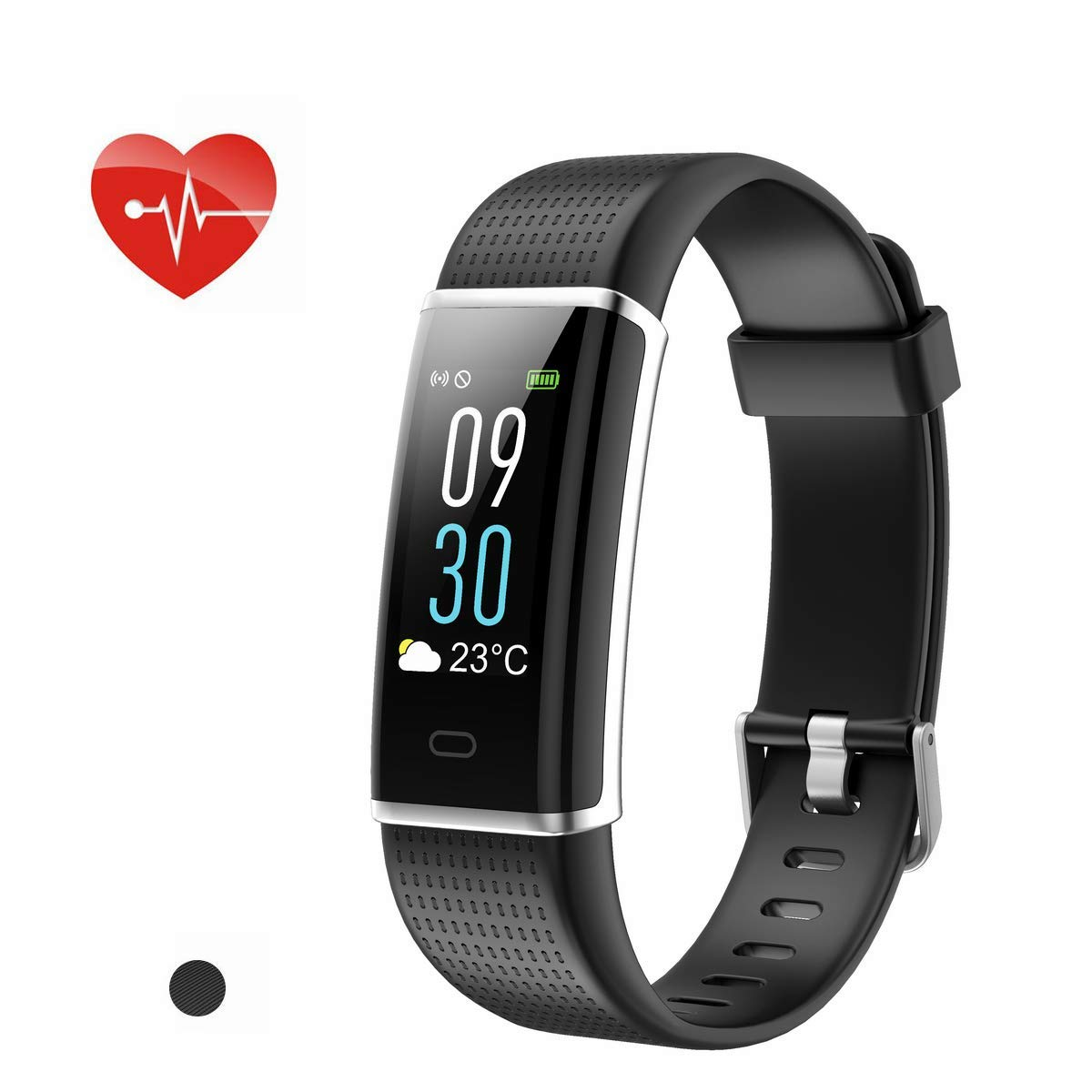 Updated Heart Rate Monitor Waterproof Sport Smart Bracelet Bluetooth Pedometer Slim Activity Wristband with 14 Training Modes for iOS Android Longess Fitness Tracker