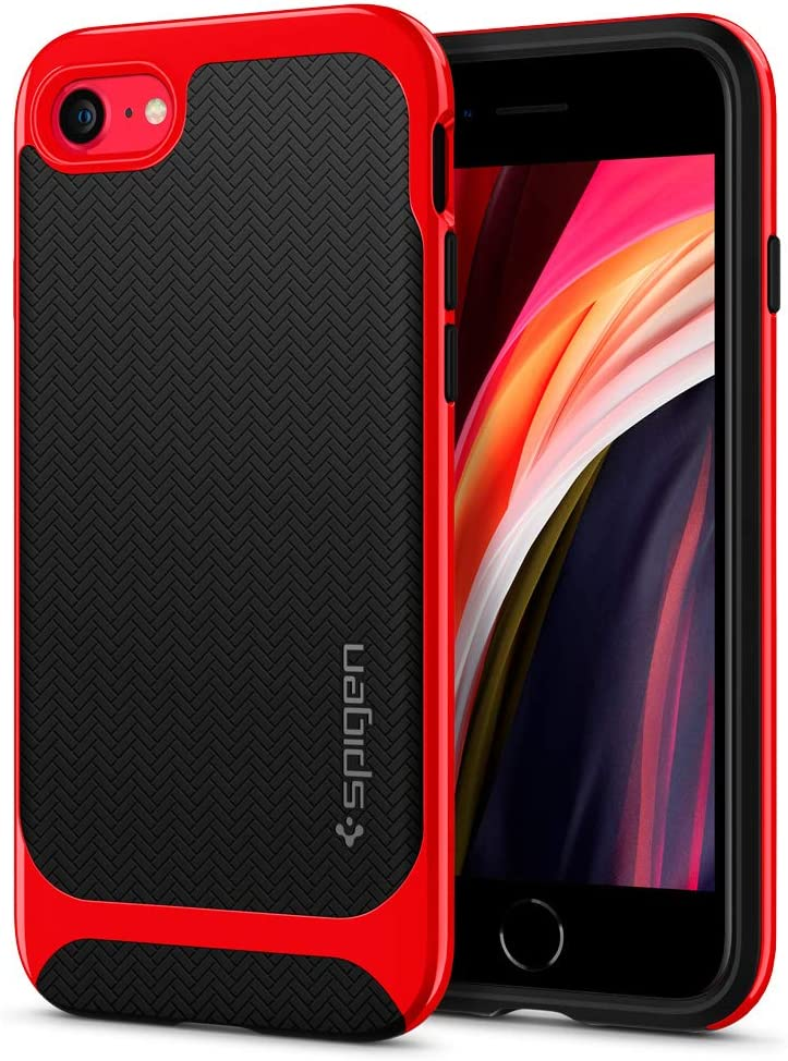 Spigen Neo Hybrid Designed for Apple iPhone SE 2020 Case/Designed for iPhone 8 Case (2017) / Designed for iPhone 7 Case (2016) - Dante Red
