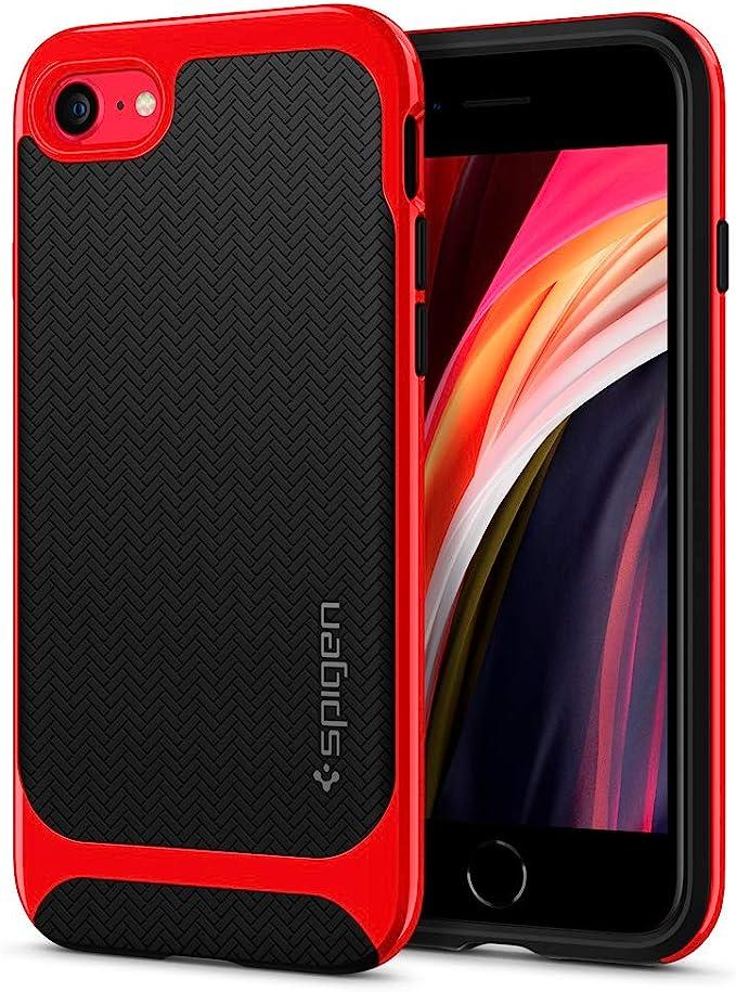 Spigen Neo Herringbone Hülle Kompatibel Mit Iphone Se 2020 Iphone 8 Und Iphone 7 Dante Red Elektronik
