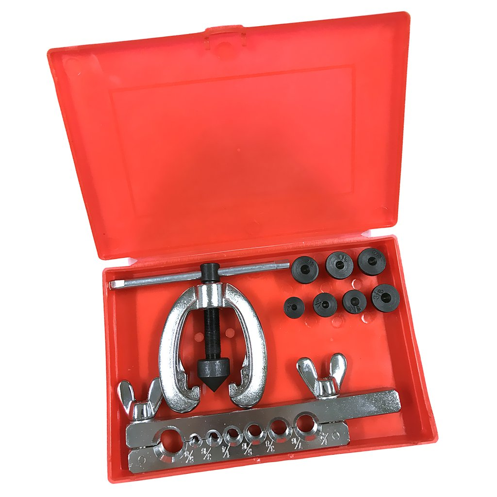 MagiDeal 5-16mm Brake & Air Line Double Flaring Tool Kit Set Hand Tool With Case