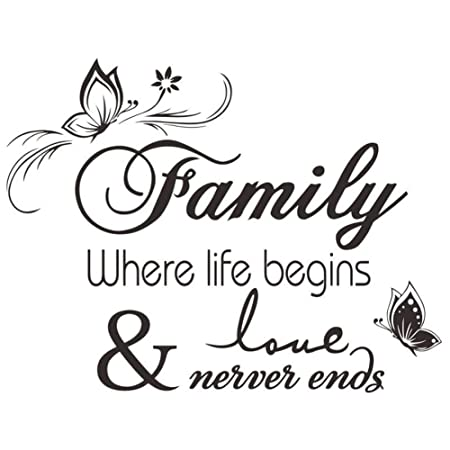 lapopnut wall stickers family quote series black lettering