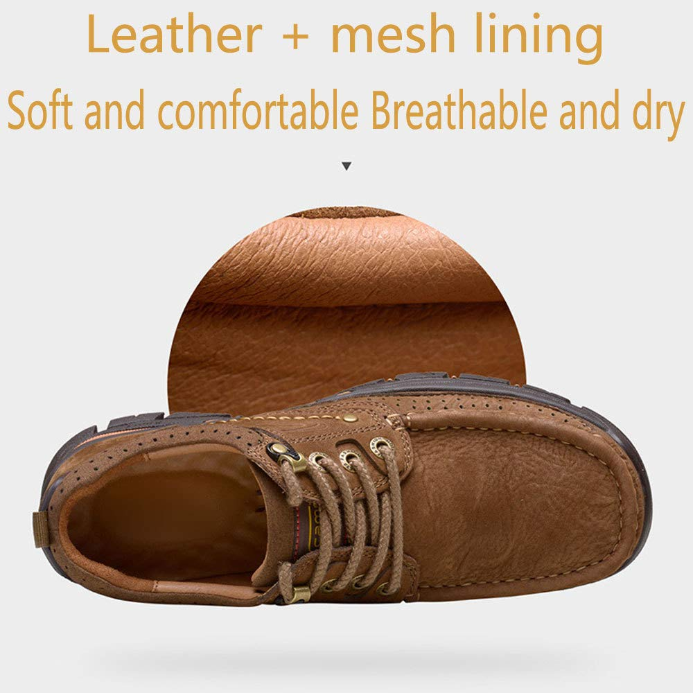 HWG-GAOYZ Schuhe Herren Stiefel Stiefel Stiefel Martin Autumn Leather Retro Breathable Outdoor Schuhe Skid Offroad,Lightbraun-40 bcc44e