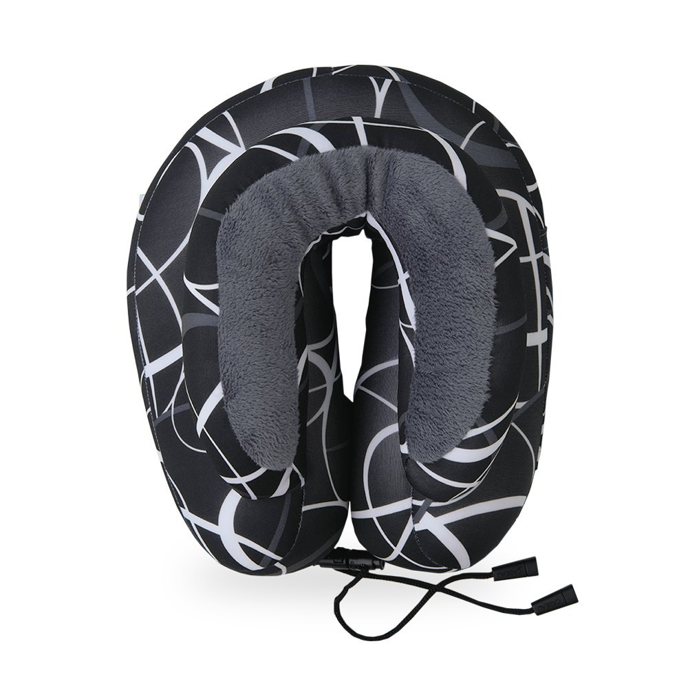 Cabeau Evo Microbead Travel Neck Pillow - The Best Travel Pillow with Microbeads - 360 Head & Neck Support - GREY SWERVE by Cabeau (Image #5)