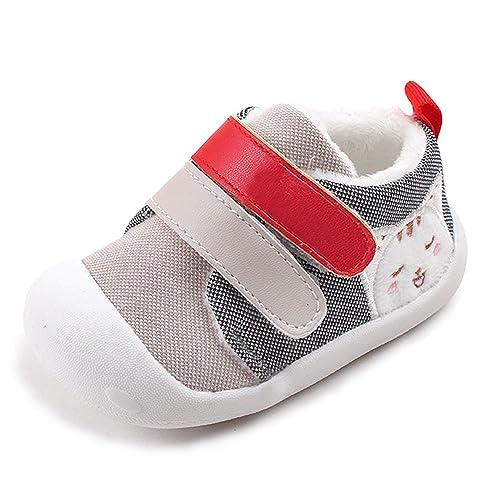 4eddcd7a4 KINDOYO Infantil Bebé del bebé del niño de la muchachasole Suave cálido  Zapatilla de Deporte Primeros Pasos Zapatos  Amazon.es  Zapatos y  complementos