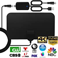 AOHE TV Antenna Indoor HDTV Digital Antenna with Amplifier Signal Booster 4K 1080P 120 Miles Range VHF UHF Freeview…