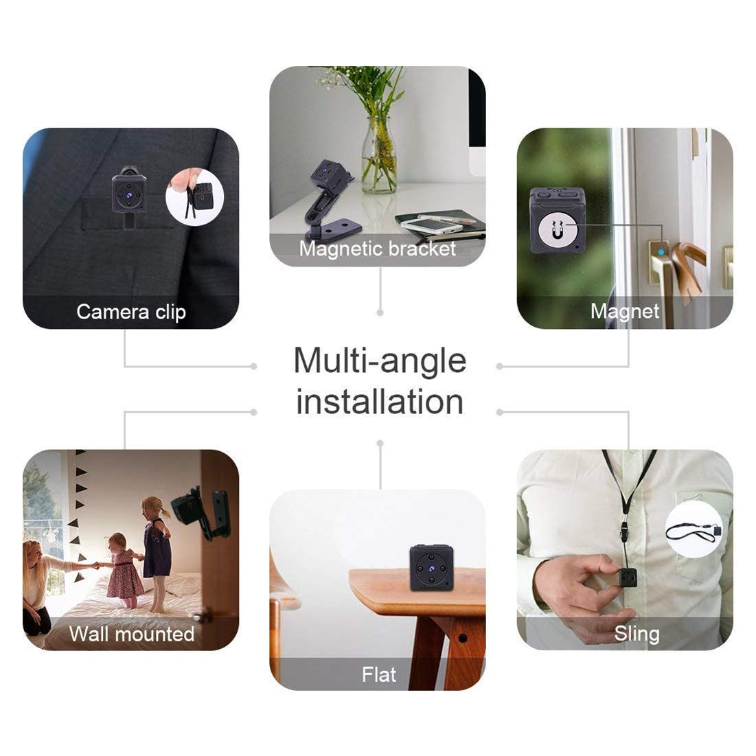 Mini Spy Hidden Camera Niyps 1080p Portable Small Hd Cubicle Wiring Diagram Network Nanny Cam With Night Vision And Motion Detective Perfect Indoor Covert Security