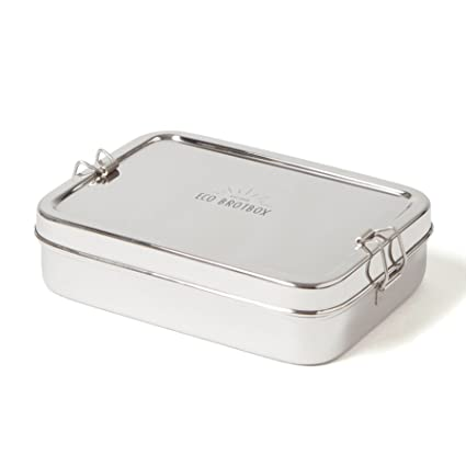 2pc Lightweight Stainless Oval Lunch Box Fruit Sandwich Food Container S XL