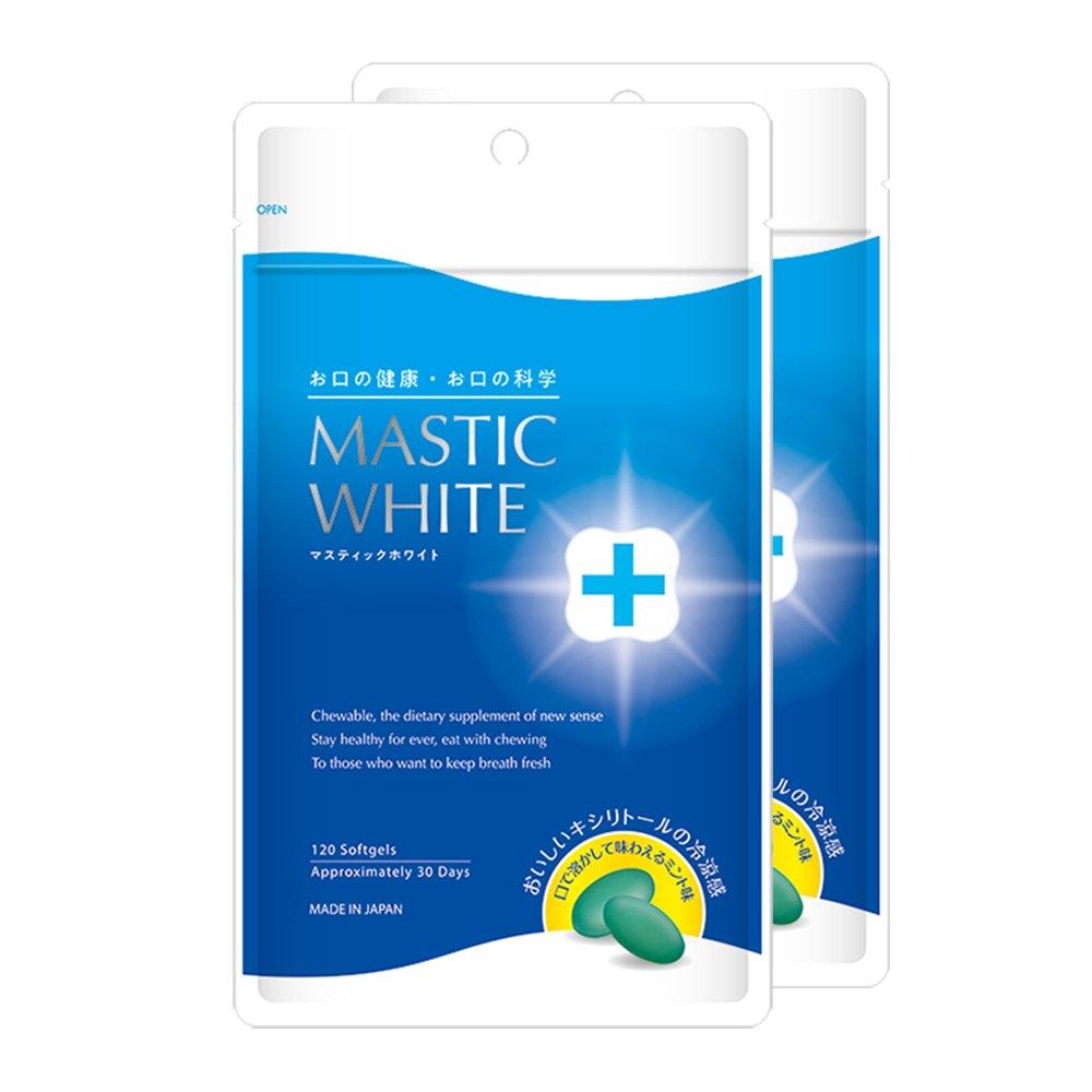 マスティックホワイト(2袋)240粒入約60日分 B07DKD459Z
