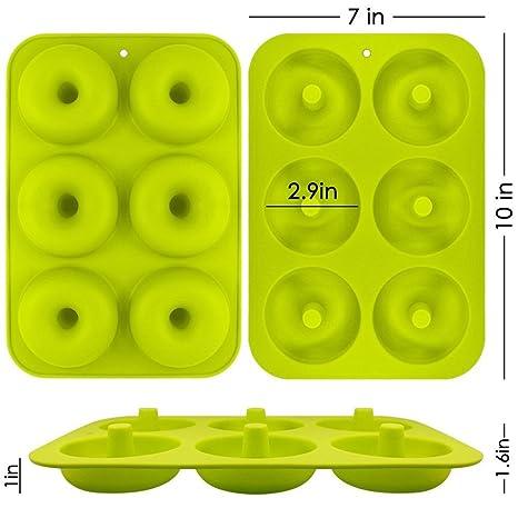 Cavity Color - Molde de silicona para repostería, diseño redondo 24.3 * 16.5 * 2.5