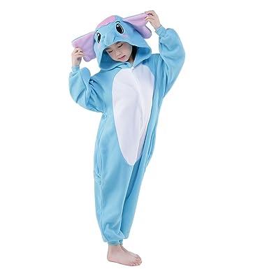 9993035aee6b Amazon.com  no!no! Children Elephant Onesie Pajamas Cosplay Costumes ...