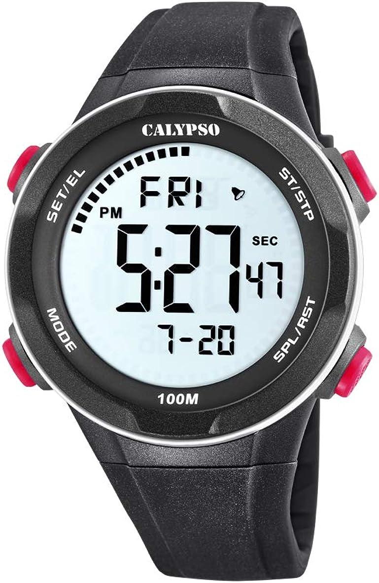 Calypso Watches Reloj Digital para Hombre de Cuarzo con Correa en Plástico K5780/2