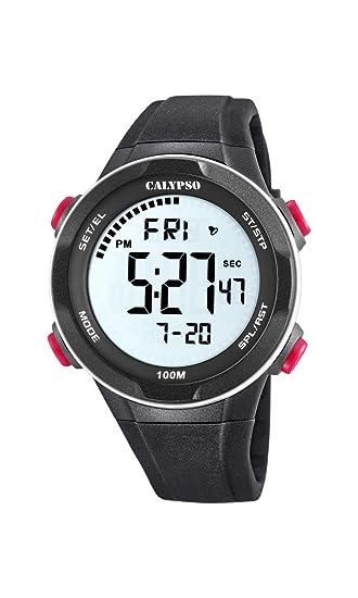 f43fcf98144b Calypso Watches Reloj Digital para Hombre de Cuarzo con Correa en Plástico  K5780 2  Amazon.es  Relojes