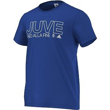 Adidas Juventus Co tee - Camiseta para Hombre, Color Azul/Blanco, Talla XL