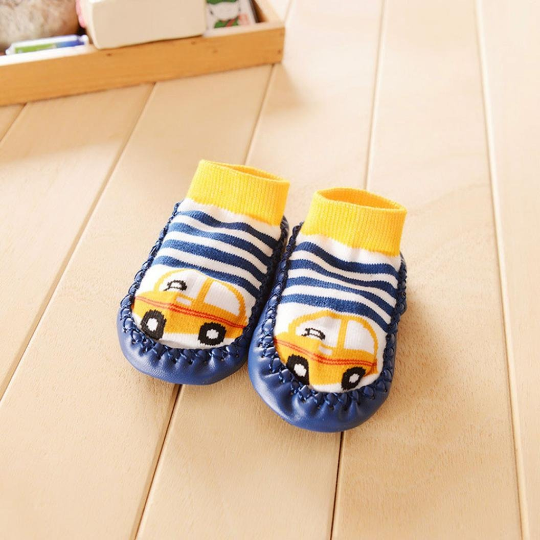 Sunward Cute Baby Boys Girls Toddlers Moccasins Non-Skid Indoor Shoes Socks//Slippers