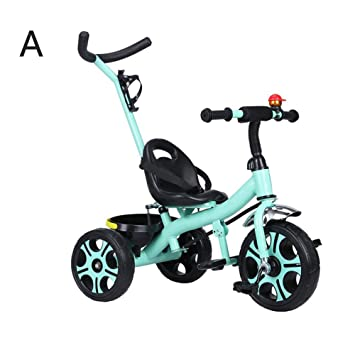 WYDM Triciclo de niños, portátil y de Mano de Obra, Bicicleta de ...
