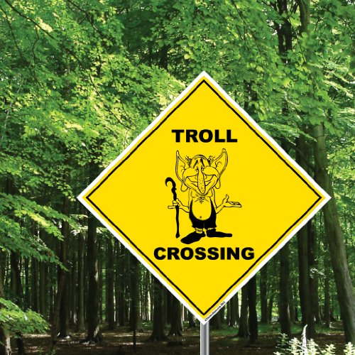 Diamond Sign Shaped - VICTORYSTORE.COM Troll Crossing Sign - 22