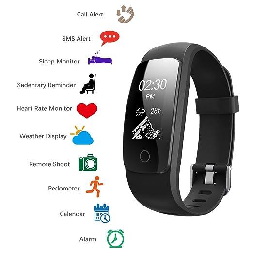2 opinioni per Fitness Tracker Braccialetto Smart band Activity tracker Polso Fitness Watch,