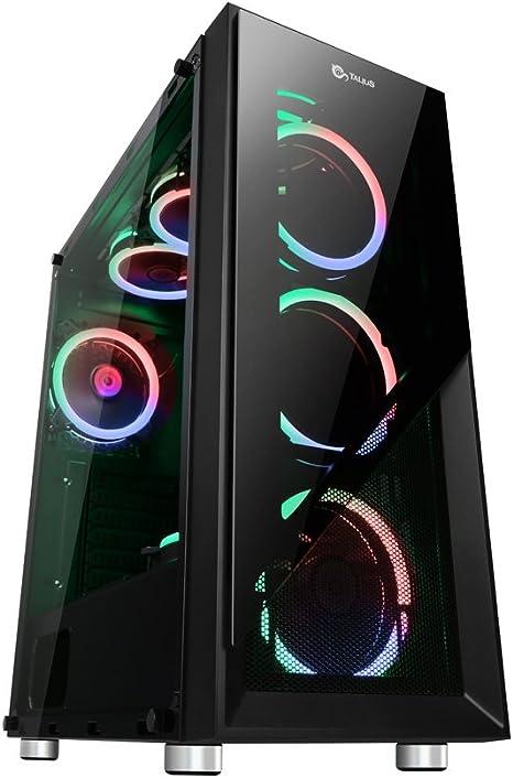 Talius Caja ATX Gaming Valkyria Doble aro Spectrum Frontal y ...