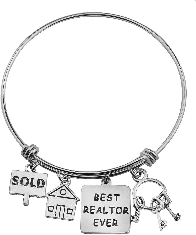 FUTOP Realtor Closing Gift Best Realtor Ever Bracelet Real Estate Agent Appreciation Gift