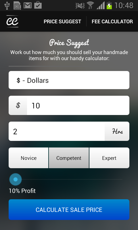 amazon com crafts calculator etsy fees and price suggest