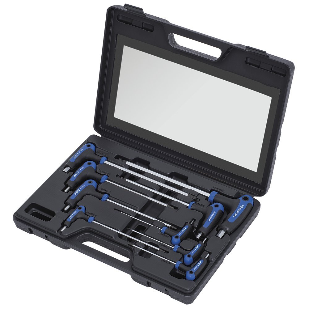 Jet 775106-9-Piece Metric Ergonomic L-Handle Ball Nose Hex Key Set