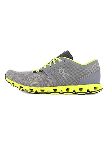 new product f41c9 60146 On Running Mens Cloud X Road Shoes Grey/Neon SZ 7.5