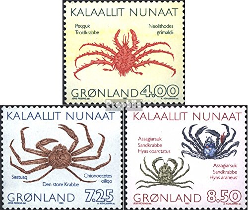 Denmark - Greenland 231-233 (Complete.Issue.) 1993 Crabs (Stamps for Collectors) Water Animals