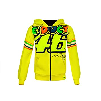 VR46 Sudadera Niño Kid Valentino Rossi The Doctor 46 TG. 10/11: Amazon.es: Coche y moto