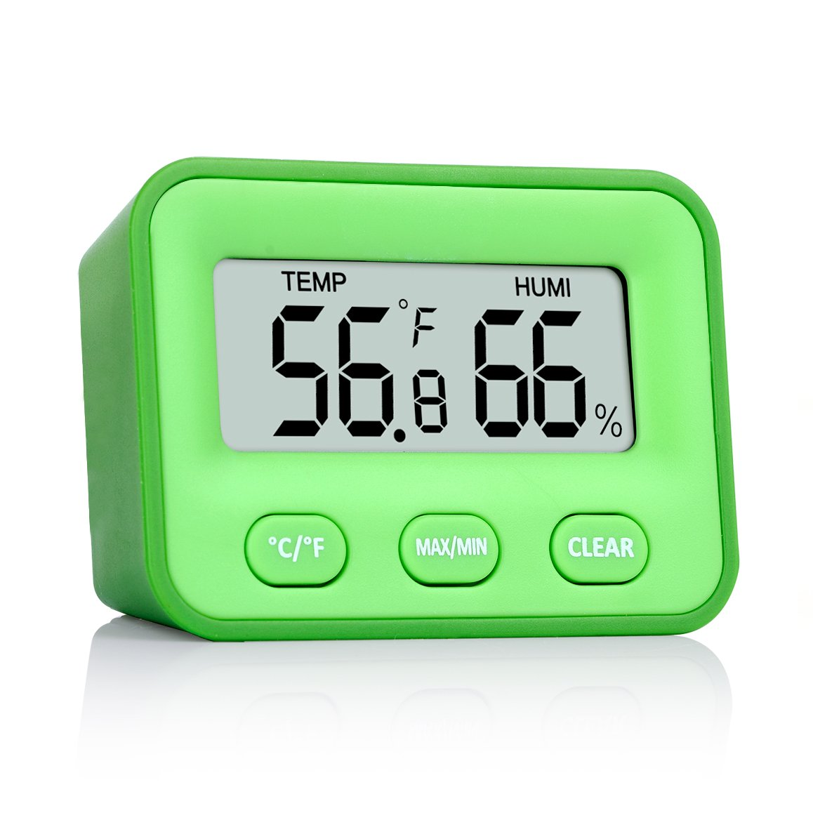 pkman [Newest Design] trade; 2 In 1 Digital Indoor Hygrometer Monitor Humidity,Indoor Room Thermometer Humidity Fahrenheit Or Celsius Temperature Gauge Humidity