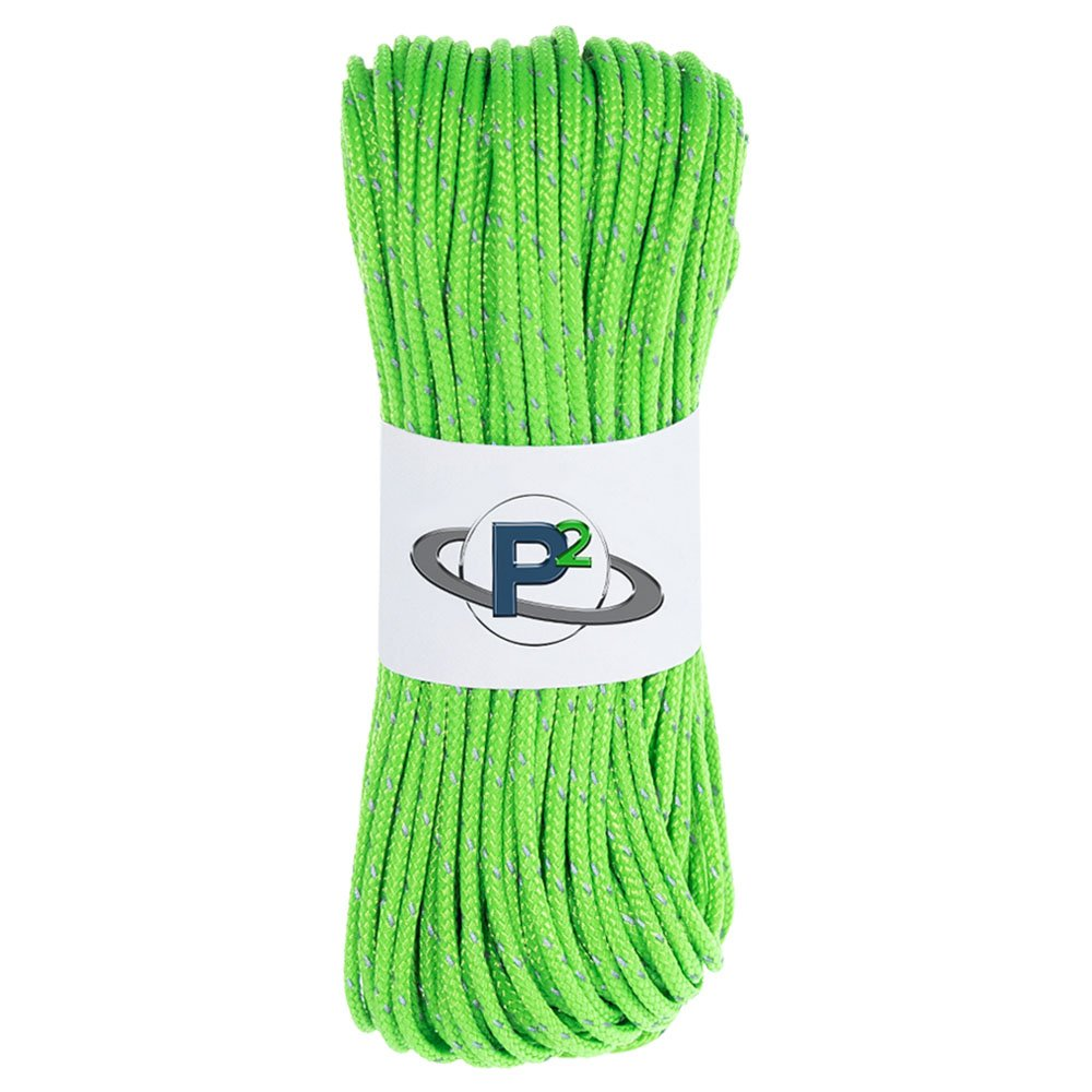 PARACORD PLANET Fluorescent Reflective 95lb 1.8mm Paracord – Many Colors – Available in Lengths of 10', 25', 50', 100', 250', 1000' – Ideal for Camping, Hiking, Tent Rope, Guyline