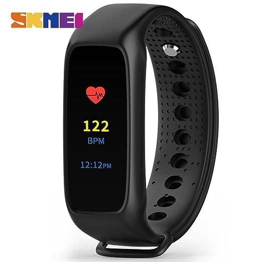 Nuevo Smart pulsera l30t LED pantalla táctil color Protector de ritmo cardíaco reloj digital: Amazon.es: Relojes