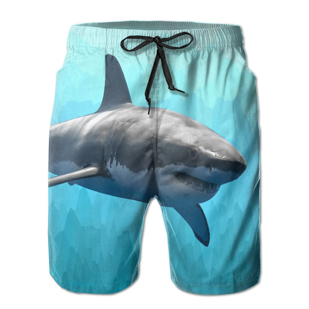 Great Mako Shark Newest Men's Workout&swim Trunks Quick Dry Board Shorts With Pockets And Drawstring Summer