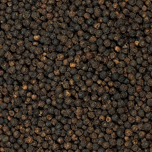 The Spice Lab - Whole Black Peppercorns Tellicherry (16 oz) Packed in the USA - Steam Sterilized Kosher Non-GMO All Natural Black Pepper for Grinders 1 Pound Bag 5015