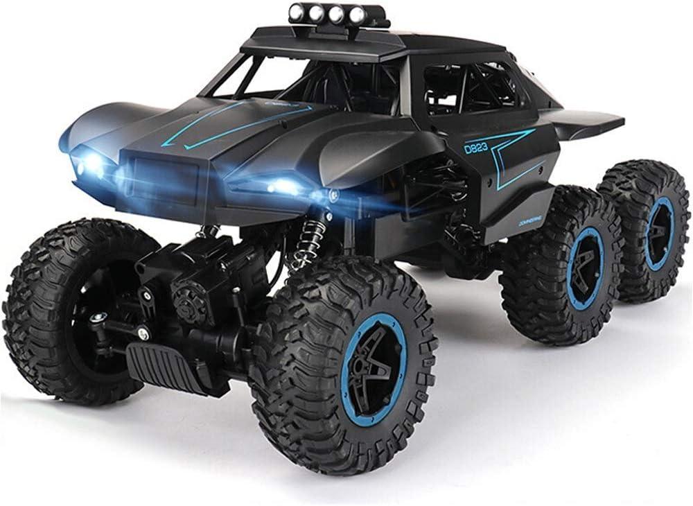 De alta velocidad 6WD todo terreno RC Cars, 2.4Ghz super resistentes a los choques coche teledirigido de la batería recargable, Monster Truck orugas Buggy, Sistema de Suspensión Independiente, regalo