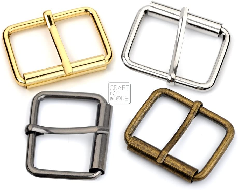 Pack of 10 and Belt Straps BIKICOCO 1 x 3//5 Roller Pin Belt Buckles Non Welded for Bags Gunmetal Collars Shoes