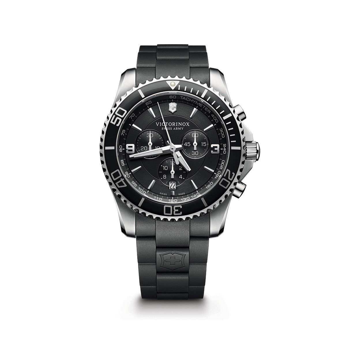 a55757ebff02 Galleon - Victorinox Men s  Maverick Chrono  Swiss Quartz Stainless Steel  And Rubber Casual Watch