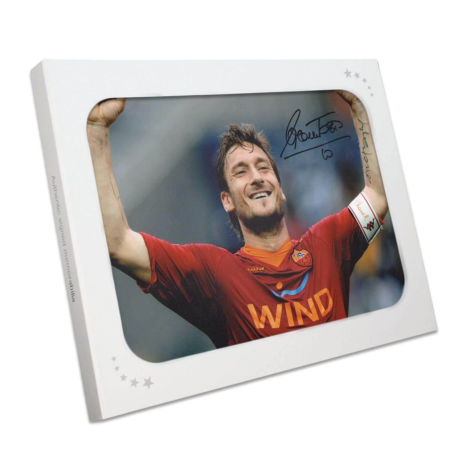 Francesco Totti Signed AS Roma Photo: The Roman Emperor In Gift Box | Memorabilia Autographed Exclusive Memorabilia