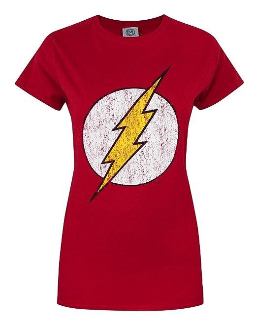35655b8b29f DC Comics The Flash Mujeres Camiseta: Amazon.es: Ropa y accesorios
