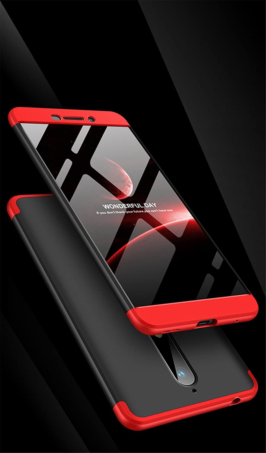 Nokia 8.1 Case Ultra Thin Shockproof Full Body Coverage Protection Hard Slim Case Coated Non Slip Matte Surface for Nokia 8.1 red//Black//red, Nokia 8.1