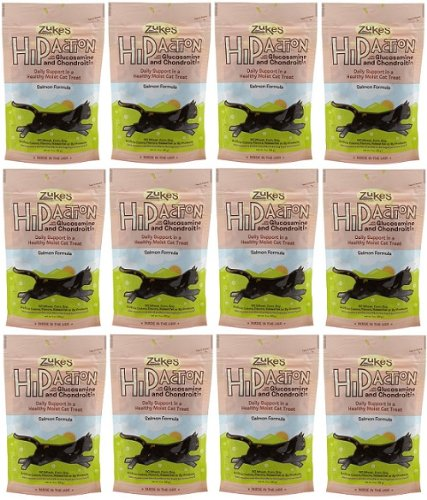 Zukes Hip Action Glucosamine & Chondroitin Cat Salmon 2.2lb (12x3oz)