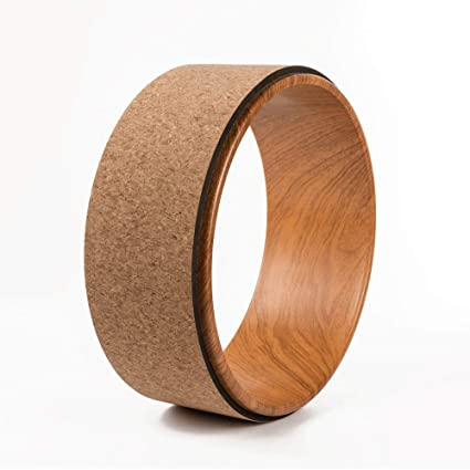 Amazon.com : BOLLAER Cork Yoga Wheel, Yoga Wheel Most ...