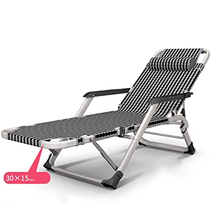 4be05e5063fb ZHIRONG 15 Grades Adjustable Lounge Chair Multifunction Office Foldable Nap  Bed Portable Outdoor Beach Garden Chair: Amazon.ca: Home & Kitchen