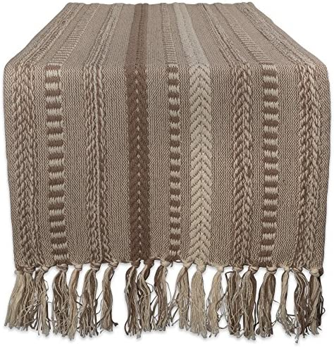 Dii Braided Cotton Table Runner Perfect For Spring Fall Holidays Parties And Everyday Use 15x72 Stone Taupe Home Kitchen