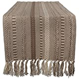 DII 15x72 Braided Cotton Table Runner, Stone Taupe Perfect for Spring, Fall Holidays, Parties and Everyday Use