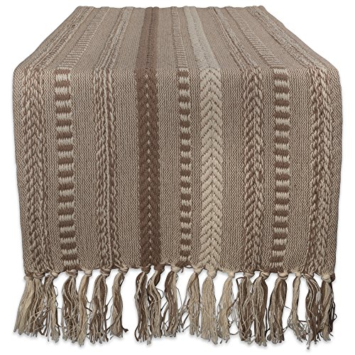 - DII Braided Cotton Table Runner Perfect for Spring, Fall Holidays, Parties and Everyday Use, 15x72, Stone Taupe