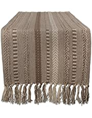 Braided Cotton Table Runner, Navy Blue - Perfect for Summer, Holiday Parties and Everyday Use
