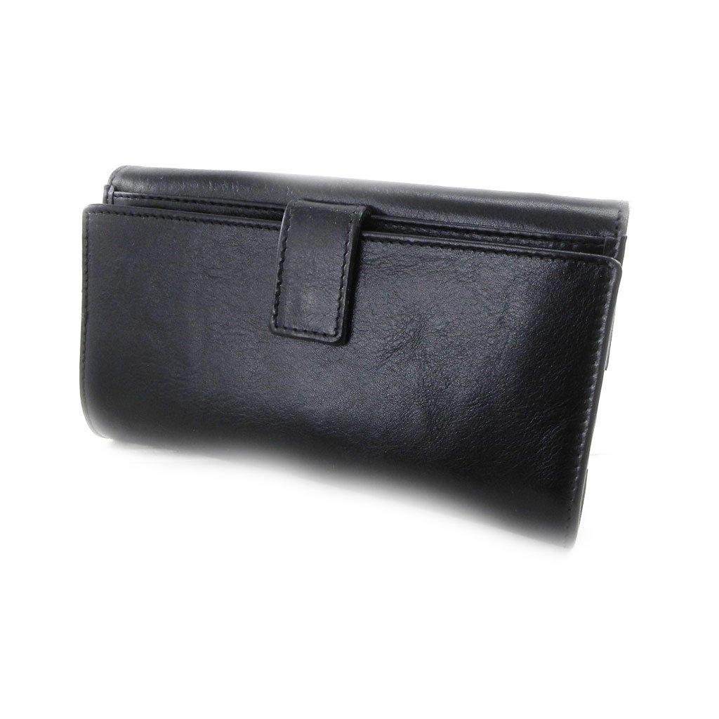 Wallet + checkbook holder leather 'Frandi' ecological york black. by Frandi (Image #5)
