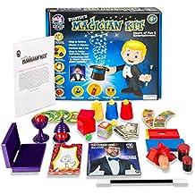 Starter Magic Tricks Set for Kids - 12 Exciting Magician Items, Instruction DVD - Magic Kit Gift Set