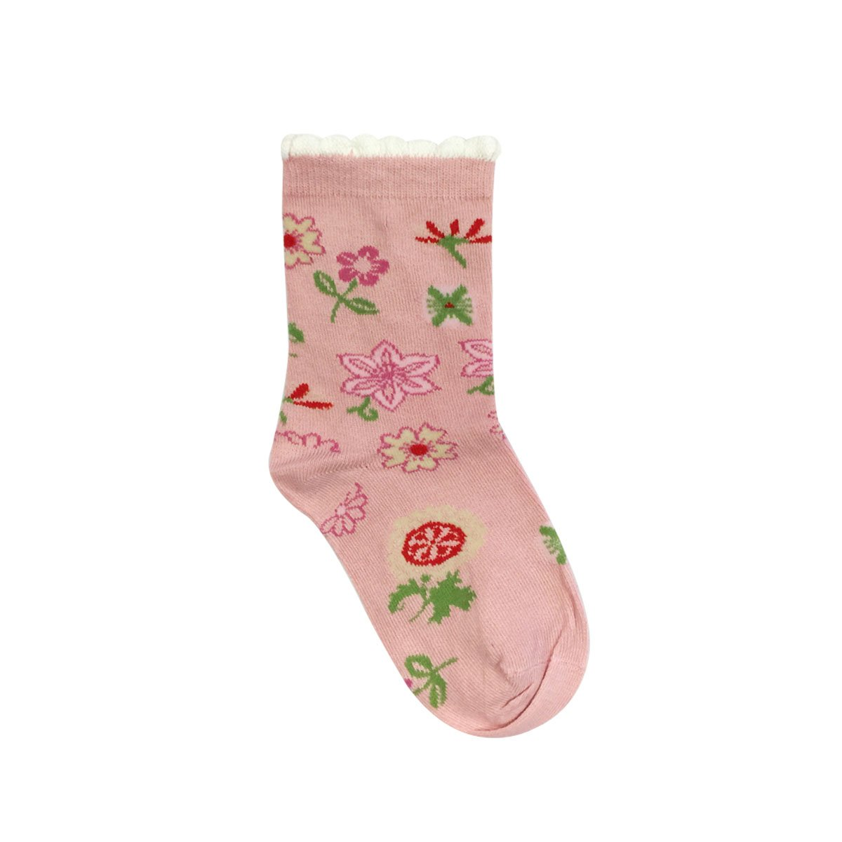 Bowbear Little Girls 3 Pair Flower Garden Socks